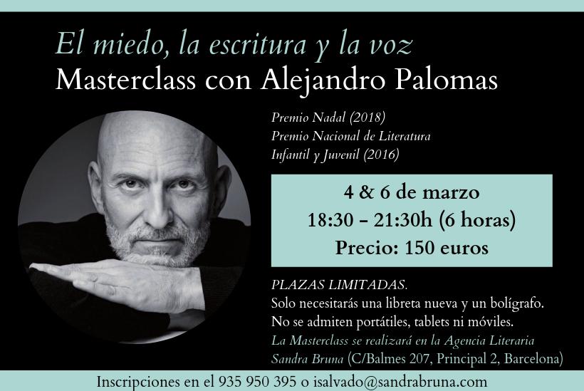 Masterclass con Alejandro Palomas
